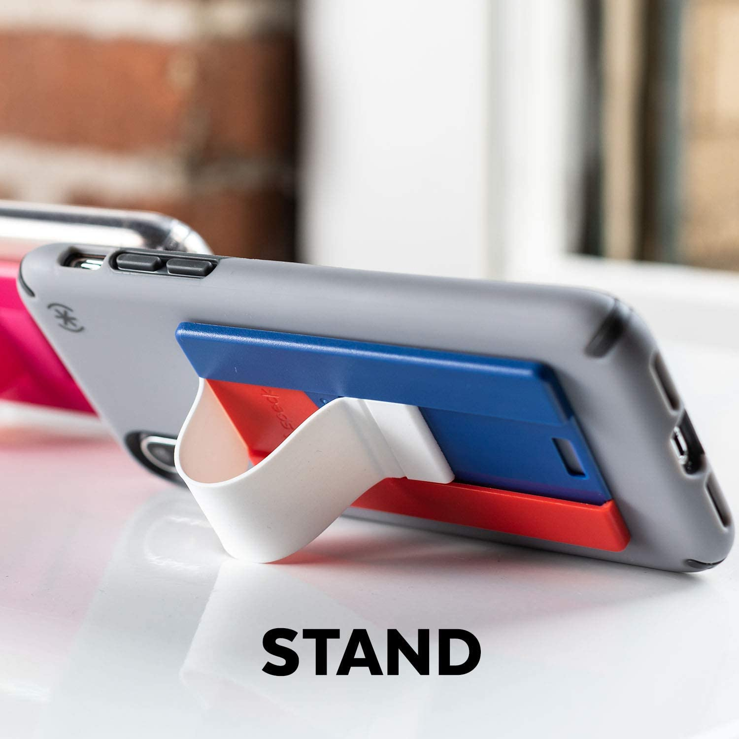 Speck Products GrabTab Cell Phone Holder and Stand Casette Yellow Cases Works With Most Cell Phones