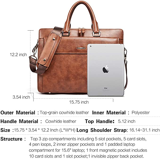 Texture Christmas Snowflakes Mens and Womens Computer Bags Shoulder Bags Briefcases Handbags Suitable for 15 Inch Computers