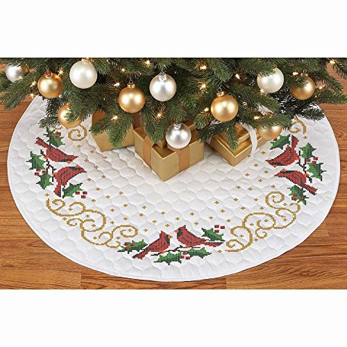 (Herrschners® Holiday Cardinal Tree Skirt Stamped Cross-Stitch)