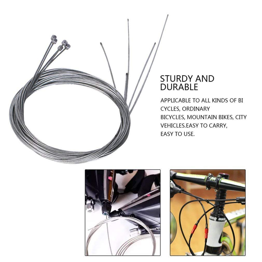 5pcs Road Bike MTB Fixed Gear Bicycle Brake Line Shift Shifter Gear Brake Cable Sets Core Inner Shifting Wire Steel Speed Line