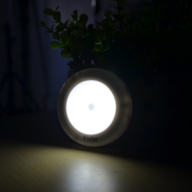 Firlar Motion Sensor Closet Light 3PCS,Stick Anywhere Battery Powered Universal LED Night Lights for Hallway,Bathroom,Kitchen,Stairs,Cabinet