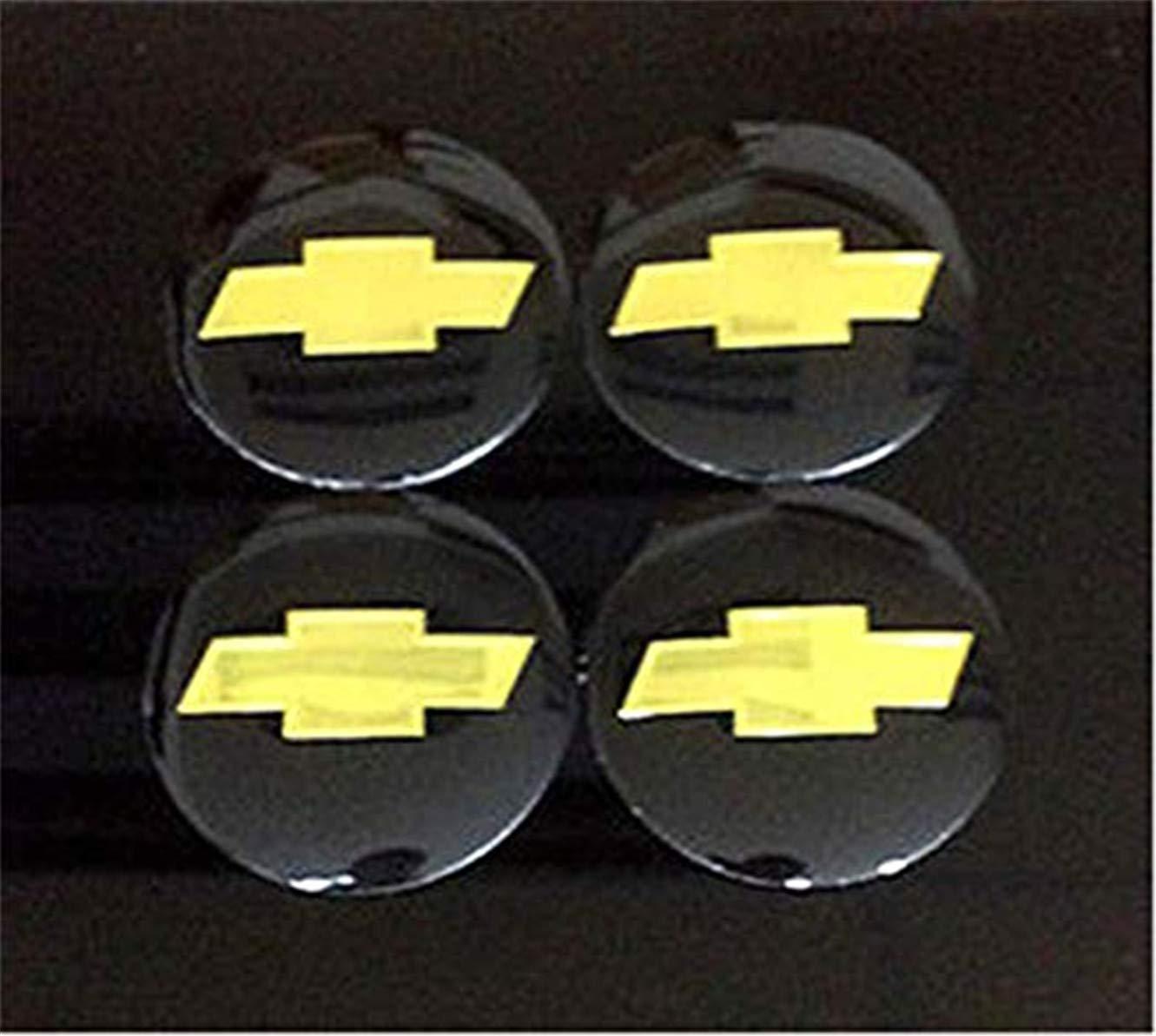fanlinxin Ruota 56 mm Centrale Adesivo Tappo Nero Set 4 Pezzi Chevrolet
