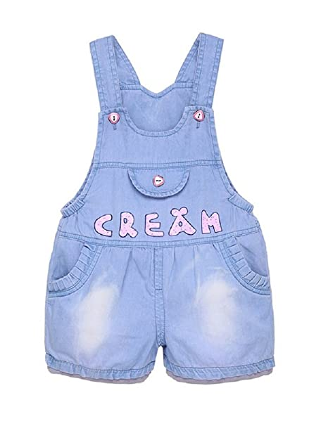 d87181e31 DEBAIJIA Pantalones Vaquero de Peto para Bebé Niños Niñas Corto De Verano  Azul con Impresión de Palabra Overall Mono - 80: Amazon.es: Ropa y  accesorios