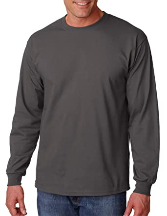 072999d41898 Gildan 2400-Classic Fit Adult Long Sleeve T-shirt Ultra Cotton-First  Quality-Charcoal: Amazon.co.uk: Clothing