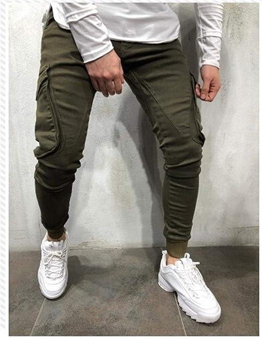 KUANGQIANWEI-trousers Pantalones de chándal para Hombre con ...