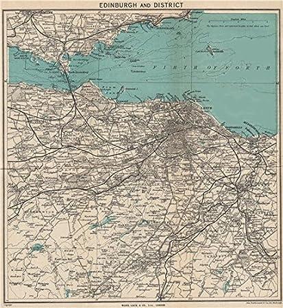 Leith Scotland Map.Amazon Com Edinburgh Environs Portobello Leith Dunfermline