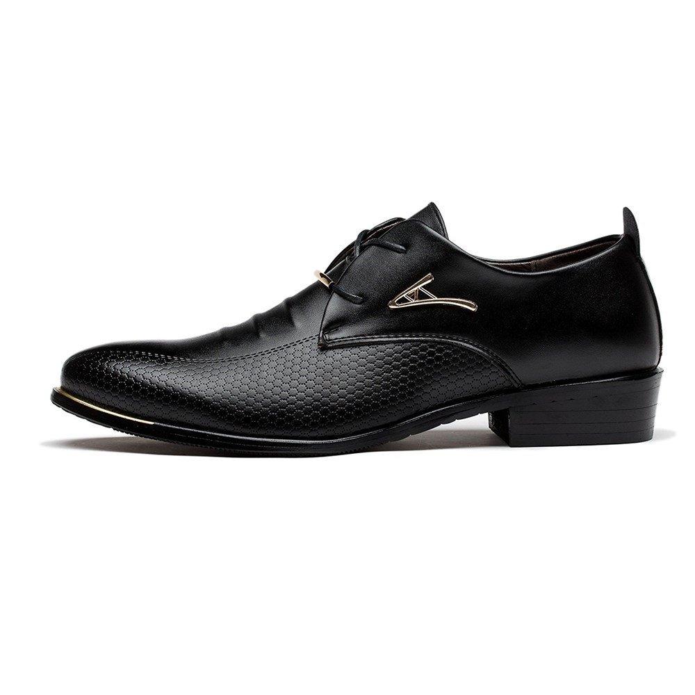 Blivener Men's Pointed Toe Classic Oxford Formal Business Dress Shoes Black US 8.5 by Blivener (Image #2)