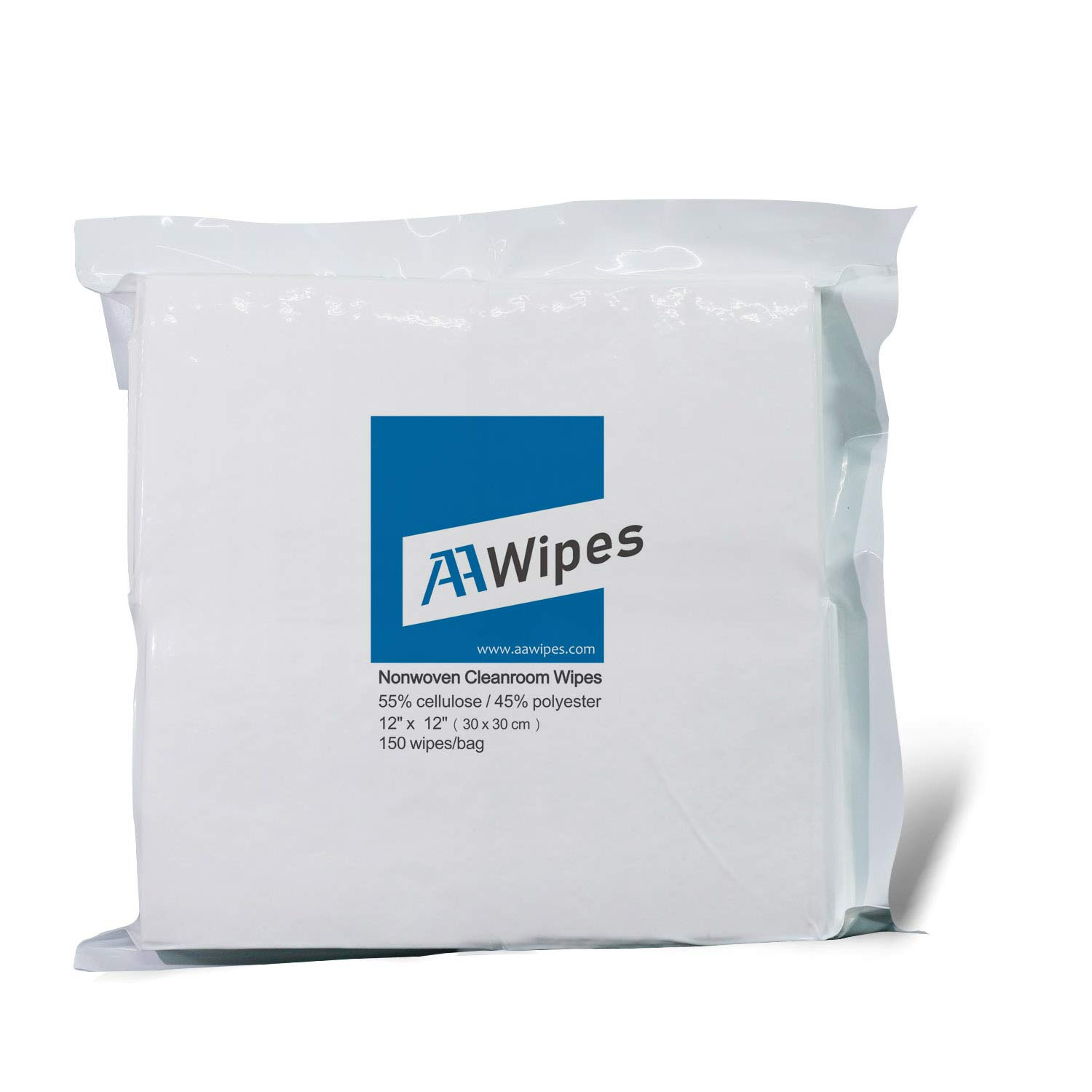 Professional Grade AAWipes Cleanroom Wipes Nonwoven Wipers Cellulose//Polyester Blend 12 x 12 Pharmaceutical Printing and Semiconductor Industries White for Lab Electronics Bag of 150 Pcs