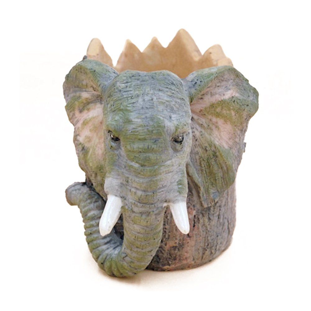 Ornerx Resin Animal Pencil Holder Elephant