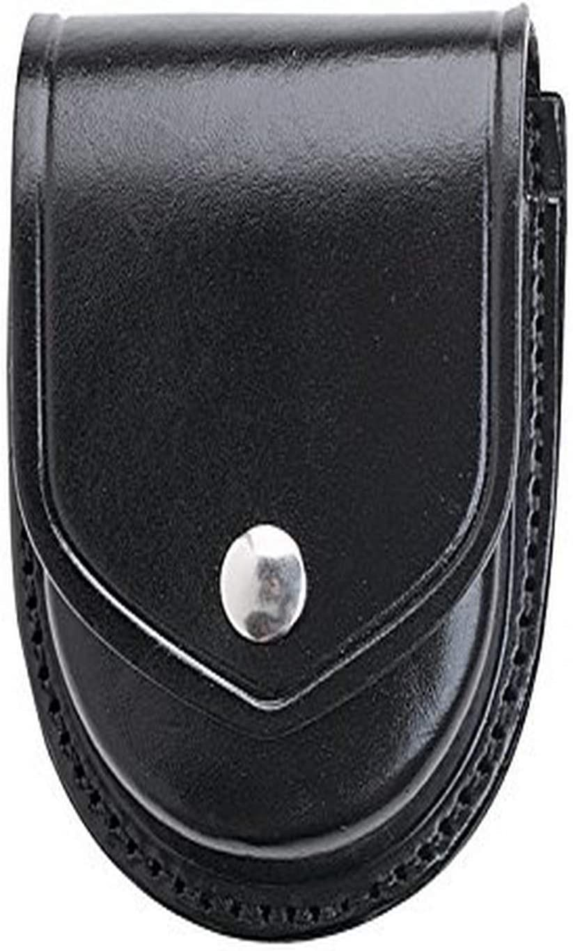 Aker Leather 500 Handcuff Case, Round