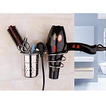YSJ Barber Shop Multi-propósito de Pared colgado 304 de Acero Inoxidable secador de Pelo