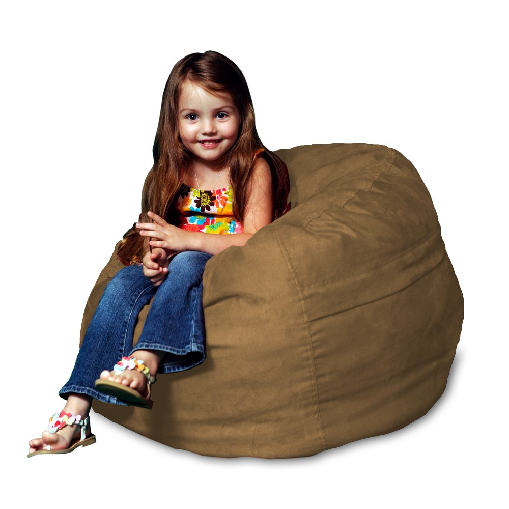 Chill Sack Kid's Memory Foam Bean Bag Chair, Earth