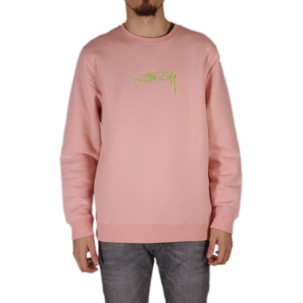 d70f240e5880 Sweat Stussy - Smooth Stock App. rose taille  L (Large)  Amazon.fr   Vêtements et accessoires