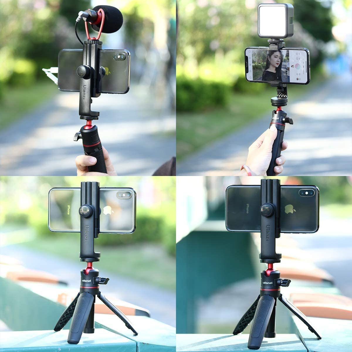Ulanzi ST-17 Phone Tripod Mount with Cold Shoe Smartphone Tripod Adapter Cell Phone Holder for iPhone 11/11 Pro/11 Pro Max/X/XS/Xs Max : Camera & Photo
