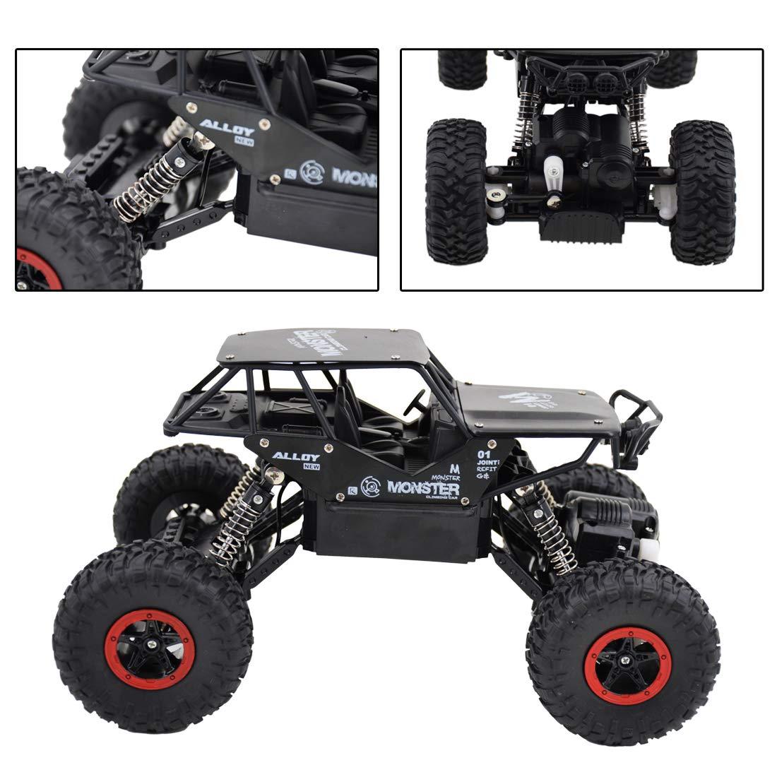 deAO RC Coche Rock Crawler Todoterreno 4WD Control Remoto 2.4GHz Vheículo 4x4 Rastreador de Roca Escala 1:15 (Plateado): Amazon.es: Juguetes y juegos
