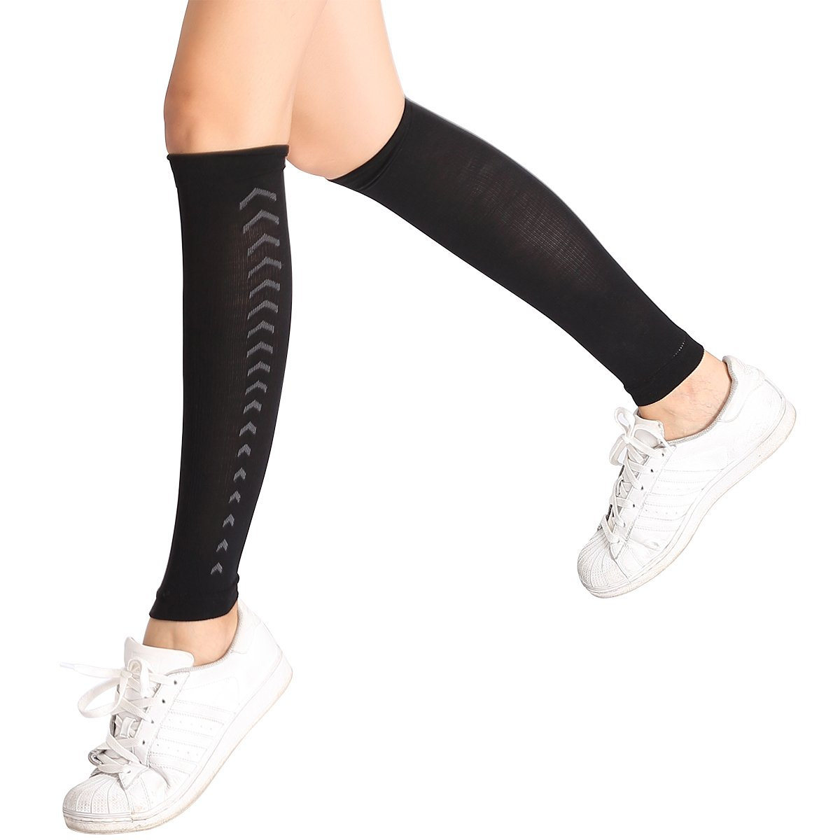 NEVGIVUP Calf Compression Sleeves Leg Compression Socks Relieve Calf Pain for Men & Women -Great for Running, Sports Jackets, Medical, Travel, Nursing, Cycling, Circulation & Recovery LIHAO