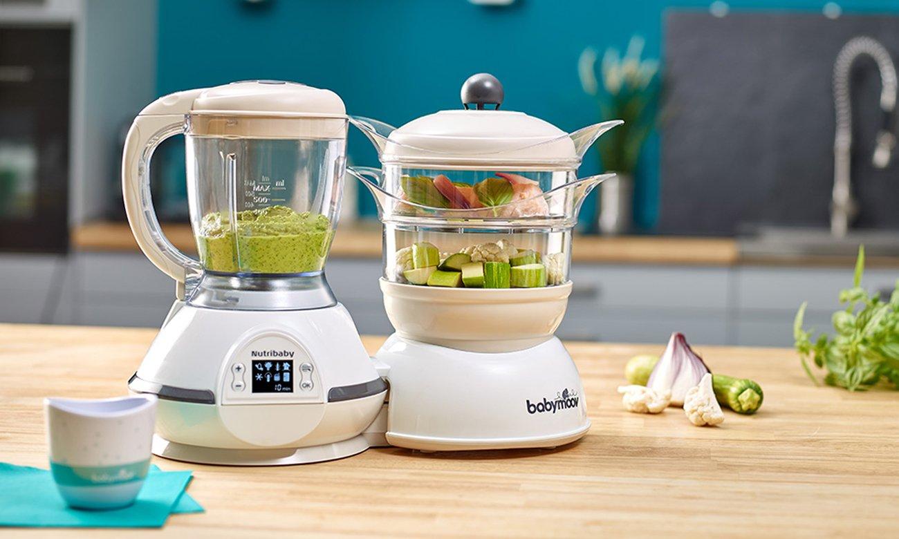 Babymoov Nutribaby Classic Multifunction Baby Food Processor, Steamer, Blender & Sterilizer, Cream A001115_UK