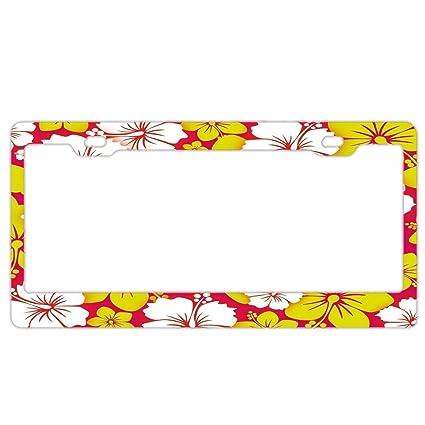 Amazoncom Yex Abstract Hawai White And Yellow Hibiscus Flower