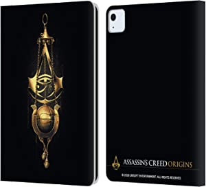 Head Case Designs Officially Licensed Assassin's Creed Piece of Eden Origins Crests Leather Book Wallet Case Cover Compatible with Apple iPad Air (2020)