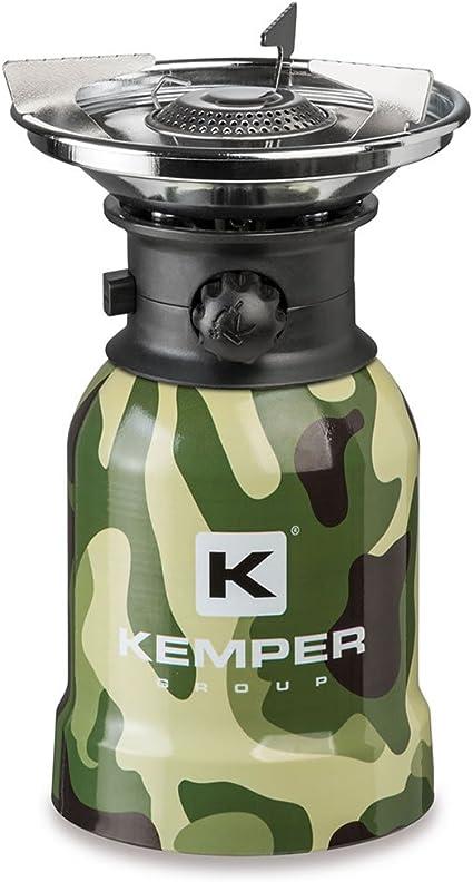 Kemper Hornillo Camuflaje de Camping portátil a Cartucho ...
