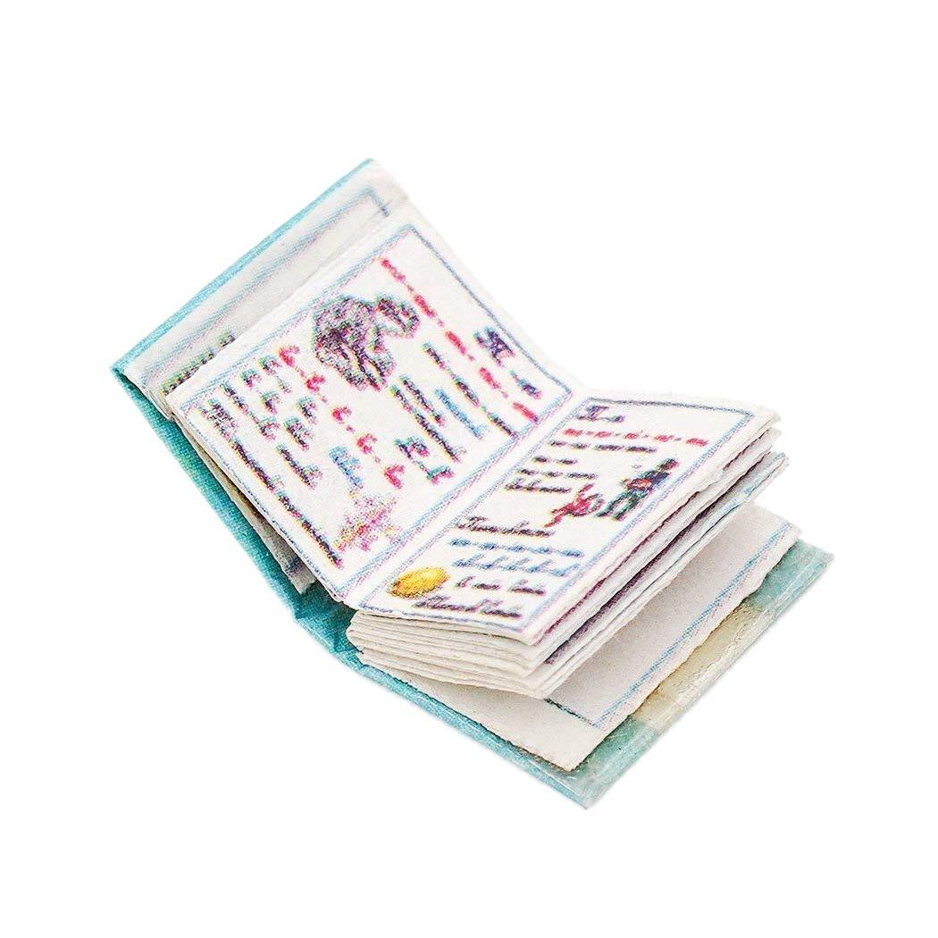 Odoria 1/12 Miniatura Libro de Cuentos Decorativo para Casa de Muñecas Cardinas