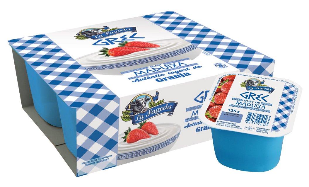 La Fageda Yogur Griego con fresa - 4 unidades: Amazon.es: Alimentación y bebidas