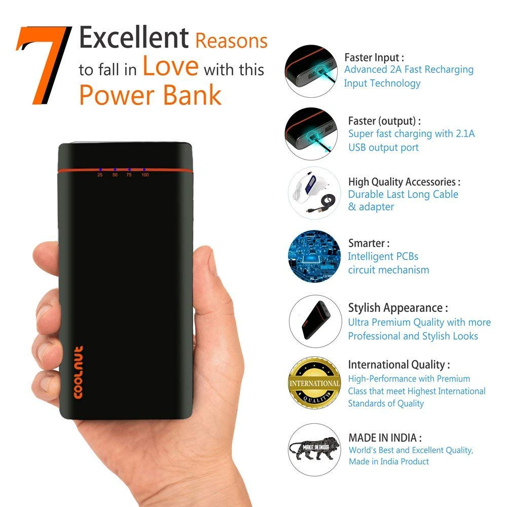Coolnut High Capacity Power Bank 20000mah For All The Circuit Adapter Charge Mobile Phones Phone Battery Charger Electronics