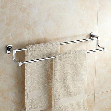 Aoligei Cobre Completo Doble Barra Cromo Alargado Segundo Piso Toalla de baño toallero baño baño Hardware Colgante 70cm: Amazon.es: Hogar
