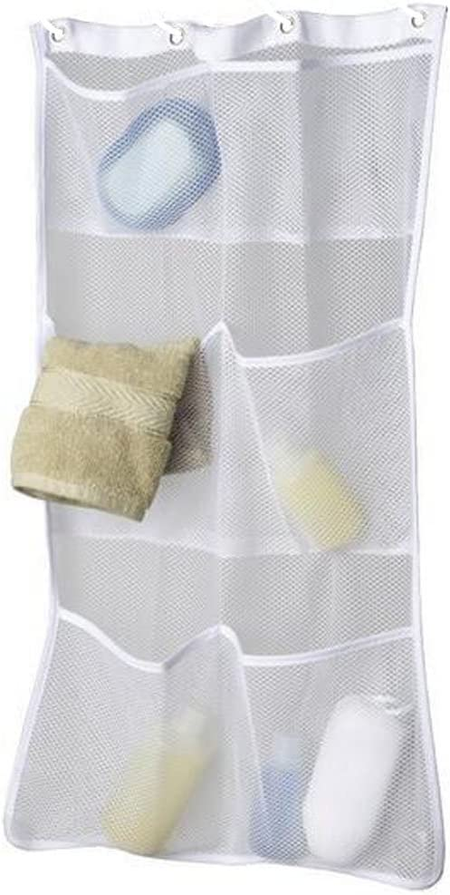 Maytex 50681 Mesh Pockets Shower Curtain Or Liner Style-2