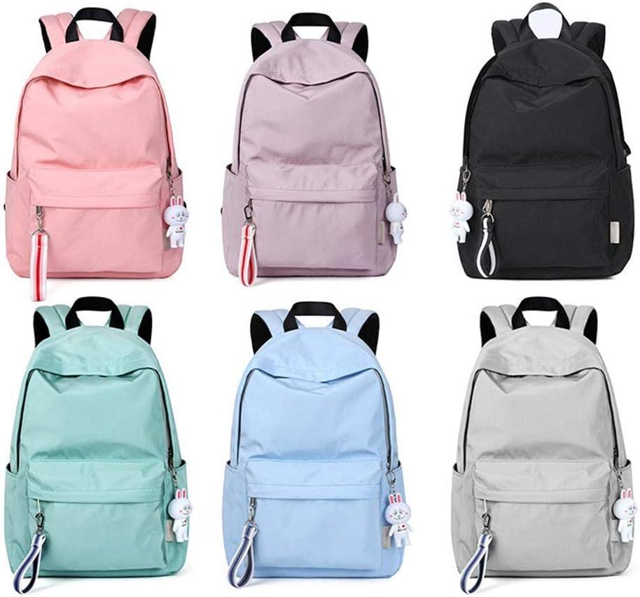 Women Daypack Teen Girl School Backpack 14 Inch Laptop Bags Travel Rucksack Waterproof Casual Daypack Bookbag Color : Green, Size : 19x14x42cm