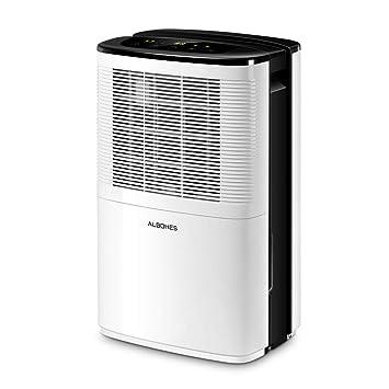 albohes Deshumidificador, Ultra Silencioso, 12 litros/Día, Adecuado para 40-100㎡, Temporizador de 24 Horas, Secador de Aire, Bajo Consumo de Electricidad, ...