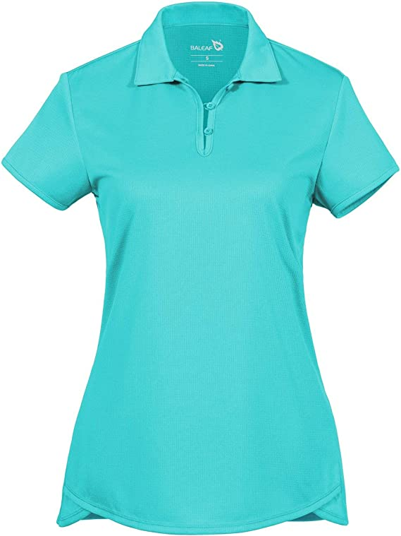 BALEAF Women's Golf Tennis Polo Shirts Workout Short Sleeve Running Athletic Yoga Top UPF 50+ best women's golf shirts