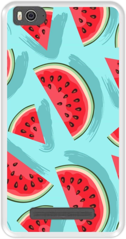 Funda Transparente para [ Xiaomi Mi 4c - Mi 4i ] diseño [ Patrón, rodajas de sandía ] Carcasa Silicona Flexible TPU