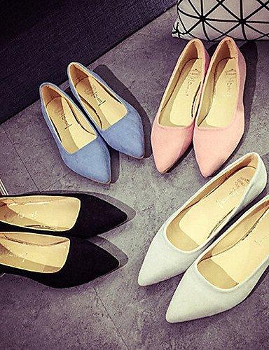 PDX/ Damenschuhe-Ballerinas-Lässig-Kunstleder-Flacher Absatz-Komfort / Spitzschuh-Schwarz / Blau / Rosa / Weiß pink-us6.5-7 / eu37 / uk4.5-5 / cn37
