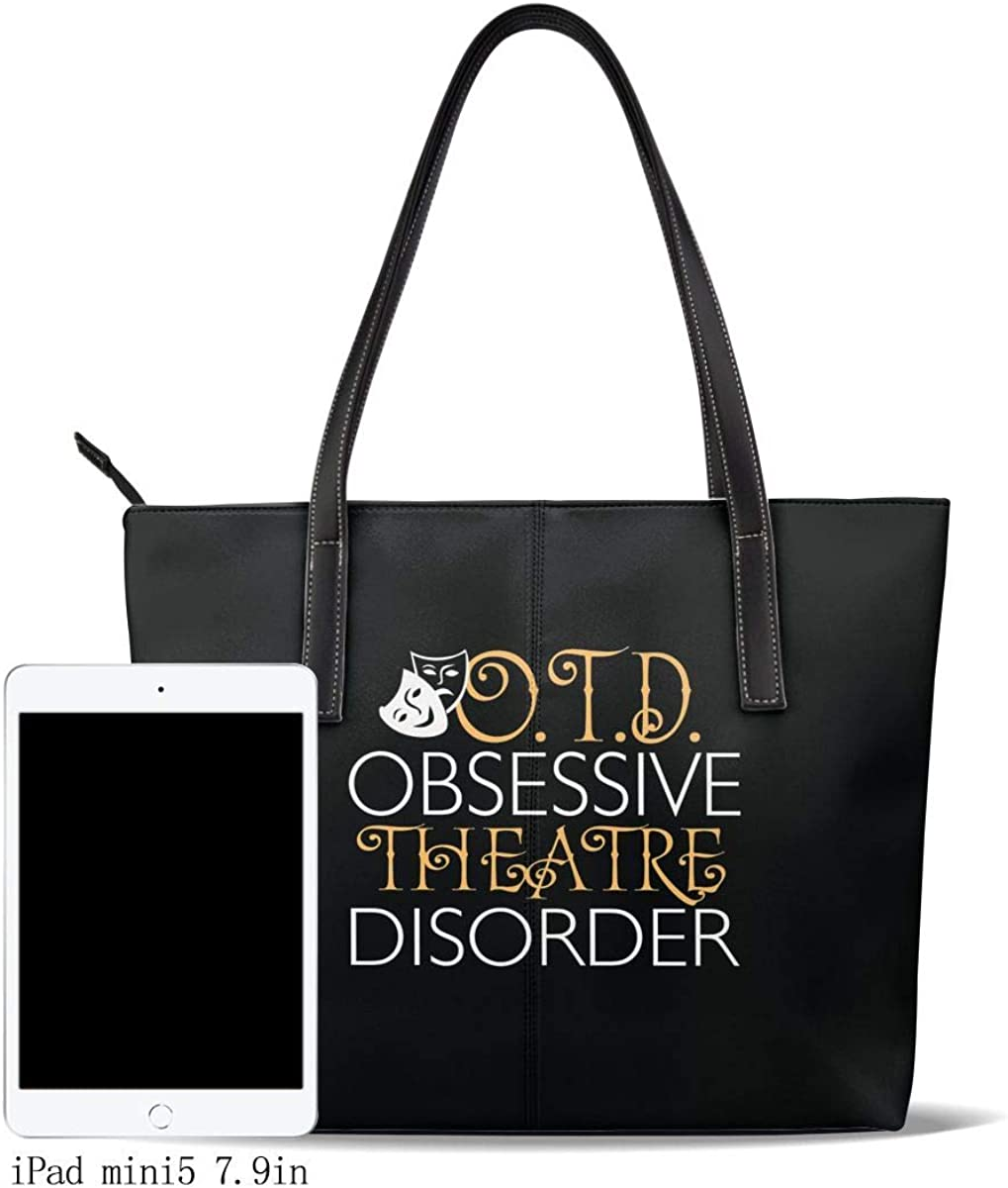 Vickcy OTD Obsessive Theatre Disorder Handbag,Women/'s Made Of Fine Leather Shoulder Tote Bag Fashion Big Capacity Crossbody.