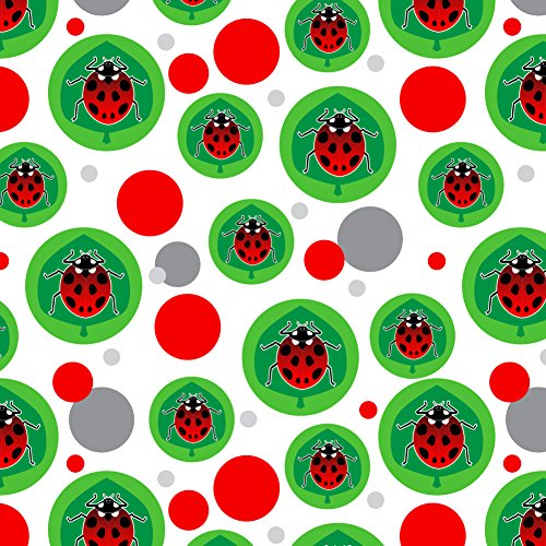 Ladybug Wrap Gift - GRAPHICS & MORE Red Ladybug on Green Leaf Ladybird Premium Gift Wrap Wrapping Paper Roll