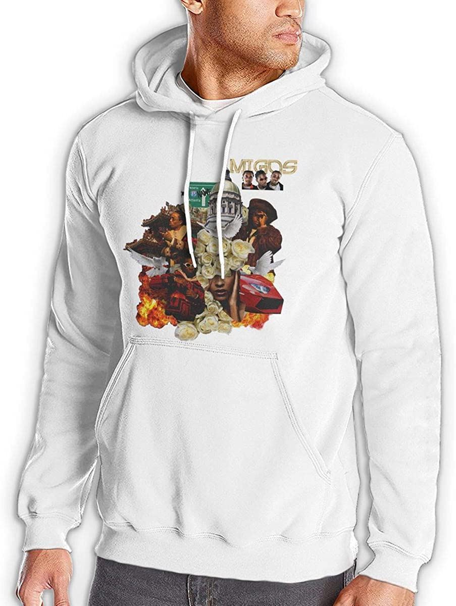 Migos ATL Mens Cool Hoodies Sport Pullover White