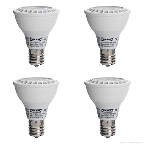 af09a7a833f Ikea s LEDARE LED bulb E17 reflector R14 (4 Pack) - Led Household Light  Bulbs - Amazon.com
