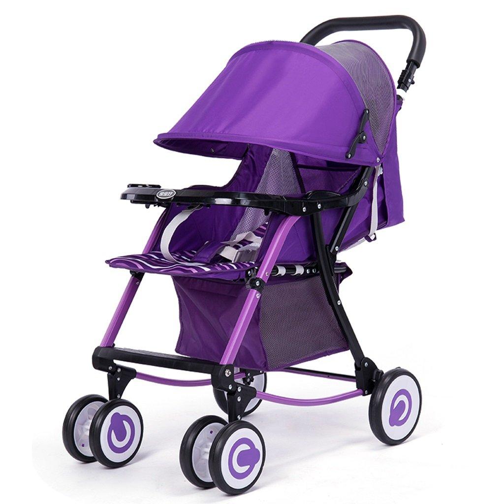 ベビーカー(ブルー)(パープル)80 * 51.5 * 98.5cm ( Color : Purple ) B07BTZ99LY