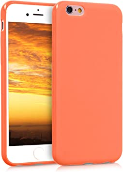 coque iphone 6s silicone orange