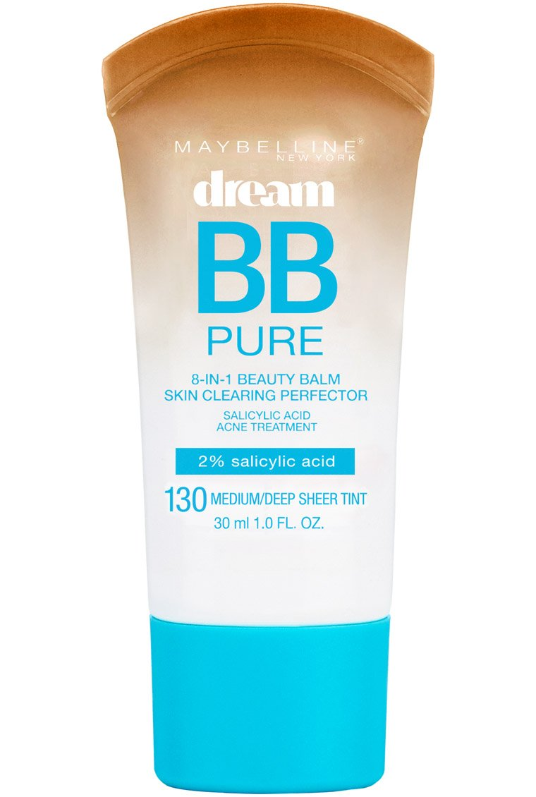 Maybelline New York Makeup Dream Pure BB Cream, Medium/Deep Skintones, BB Cream Face Makeup, 1 fl oz