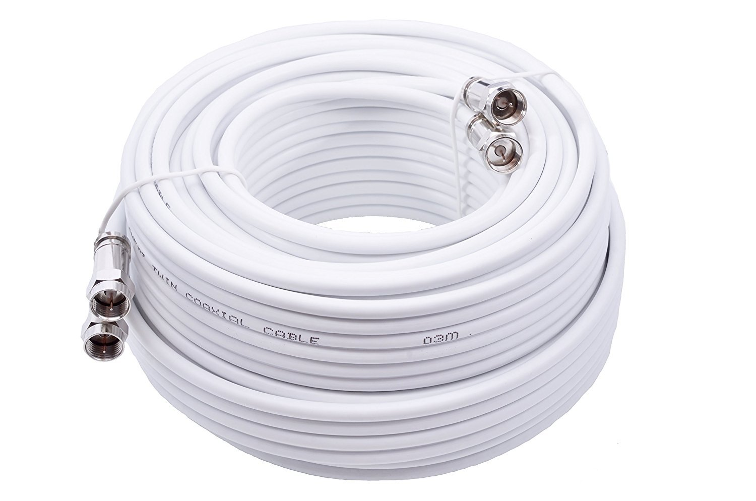 Black Male Connections Smedz 20 m Fully Assembled Digital TV Aerial Cable Extension Kit with Male