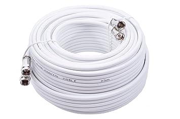 Mast Digital YCAB03G - Cable coaxial de 25 metros, blanco