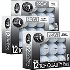 3 Dozen Titleist Pro V1 Mint Refinished Bundle includes 3 dozen Titleist Pro V1 AAAAA Mint Refinished Used golf balls in beautiful black foil packaging. Perfect for restocking for the season or as a gift forthe golfer in your life. Play Tit...