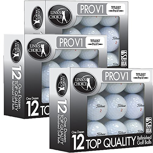 Titleist 36 ProV1 AAAAA Mint Refinished Used Golf Balls Black Foil Pack (Pro V Golf Balls Best Price)
