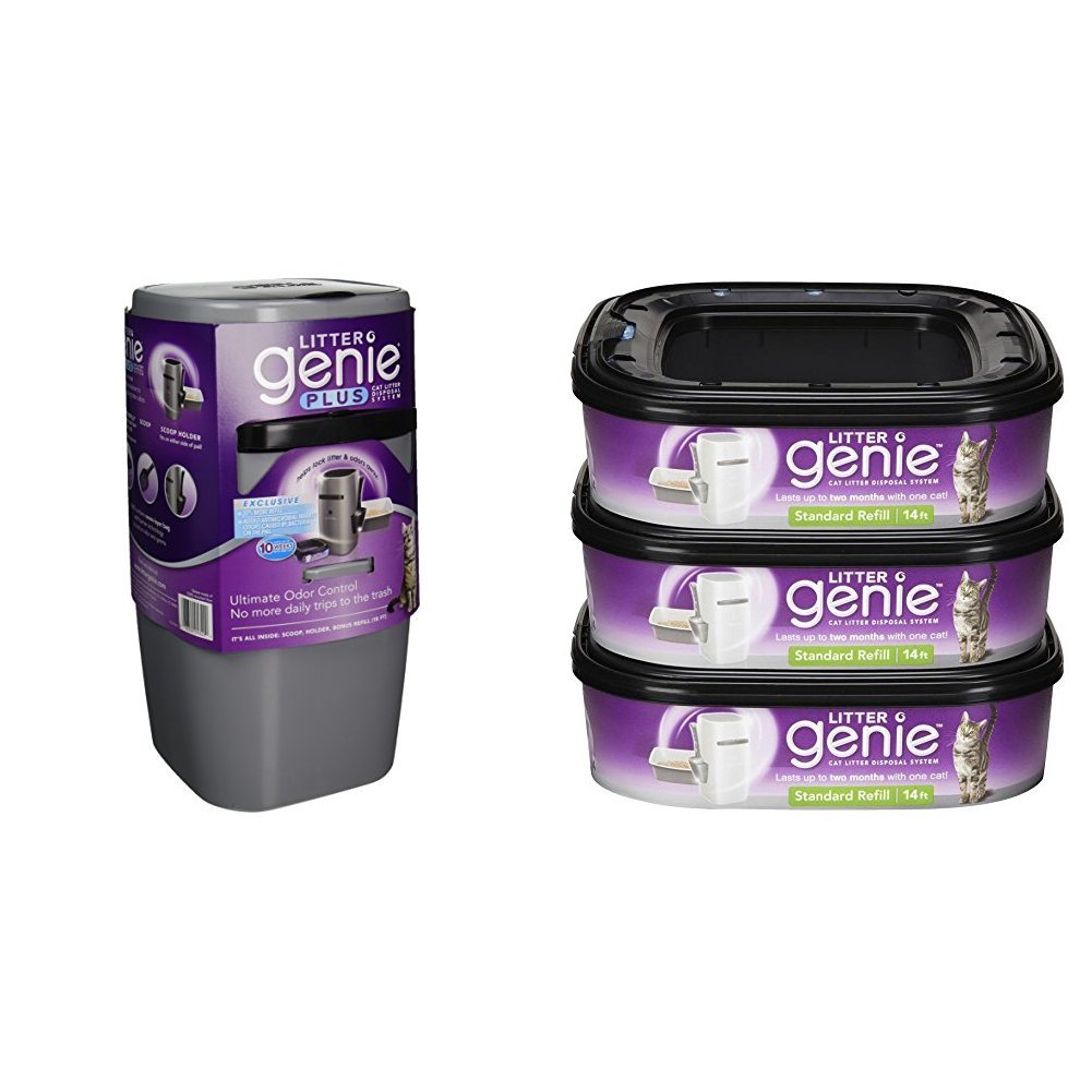 Litter Genie Plus Pail and 3 Refills by Litter Genie