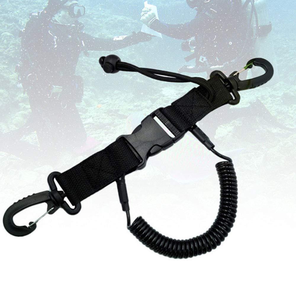 MonkeyJack 2 Pieces Heavy Duty Pure Brass Swivel Eye Bolt Snap Spring Key Ring Hook Clip Buckle for Underwater Scuba Diving Dive Gear Equipment