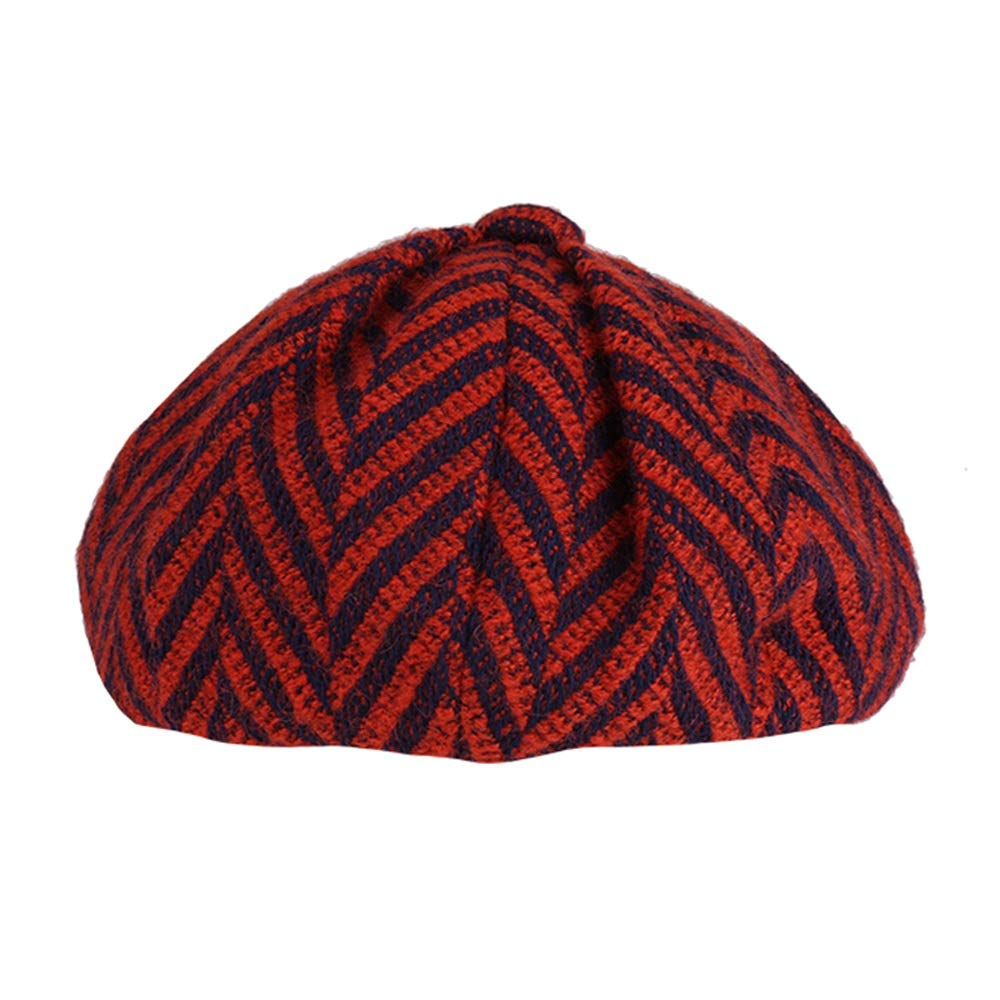Sviper Artists hat Womens Beret Hat 100/% Woolen French Beret Winter Autumn Hat Ladies Female in hat Color : Yellow