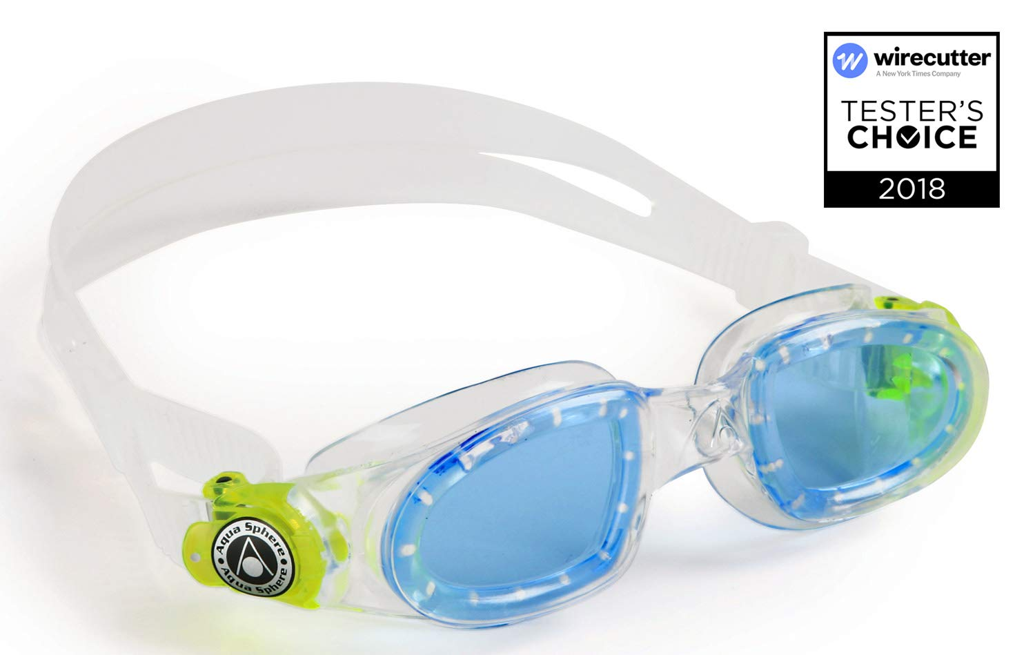 cba81d668a55 Aqua Sphere Moby Kids Swim Goggles w  Blue Tint- Clear Great for Swimming   Amazon.co.uk  Sports   Outdoors