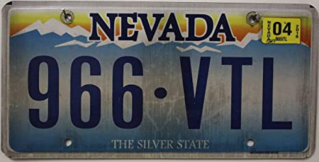 Usa Nummernschild Nevada Kennzeichen Amerikanisches Autoschild Us License Plate Auto